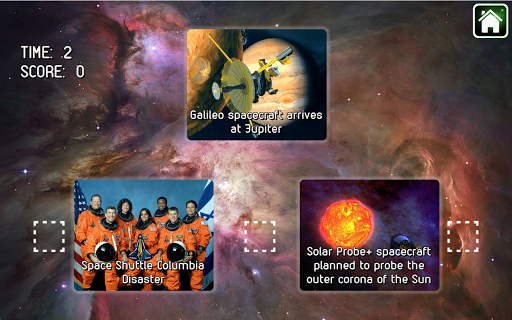 Timeline Adventure in Space