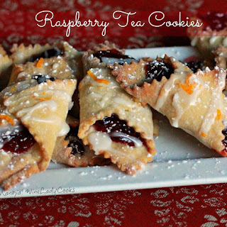 Raspberry Tea Cookies