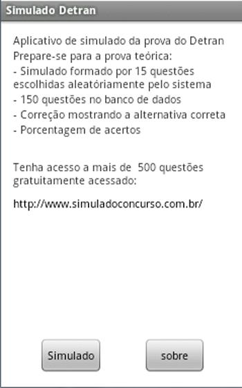 Simulado da prova do Detran - screenshot