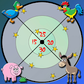 farm animals and darts for kid
