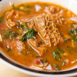 Menudo Rojo, or Red-Chile Tripe Soup