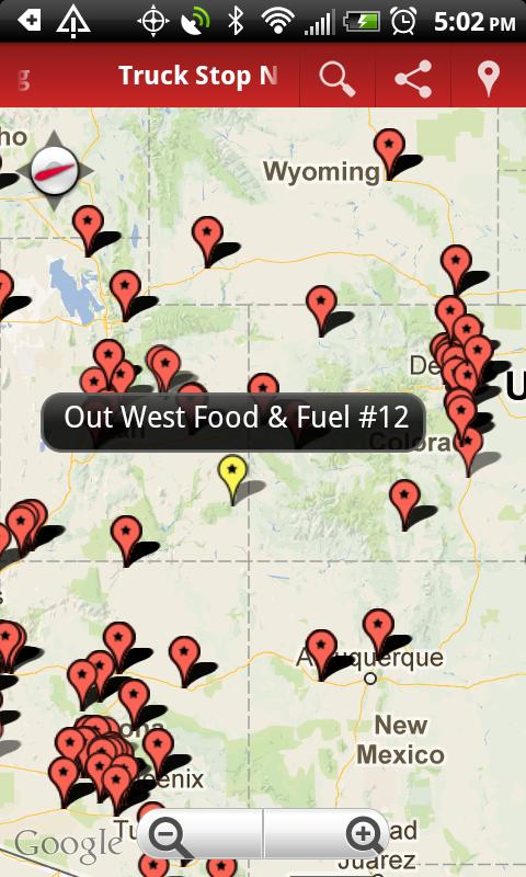 Truck Stop Overnight Parking Android Apps On Google Play - Map of truck stops in us