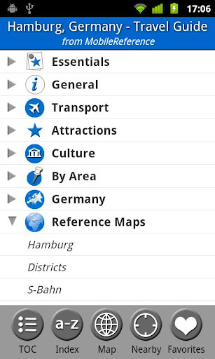 Hamburg Germany - Guide Map