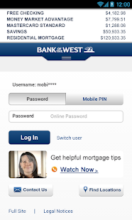 Bank of the West Mobile - screenshot thumbnail