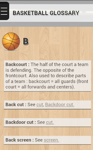 Basketball Glossary