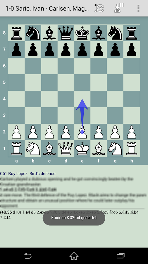 Komodo 8 Chess Engine- screenshot