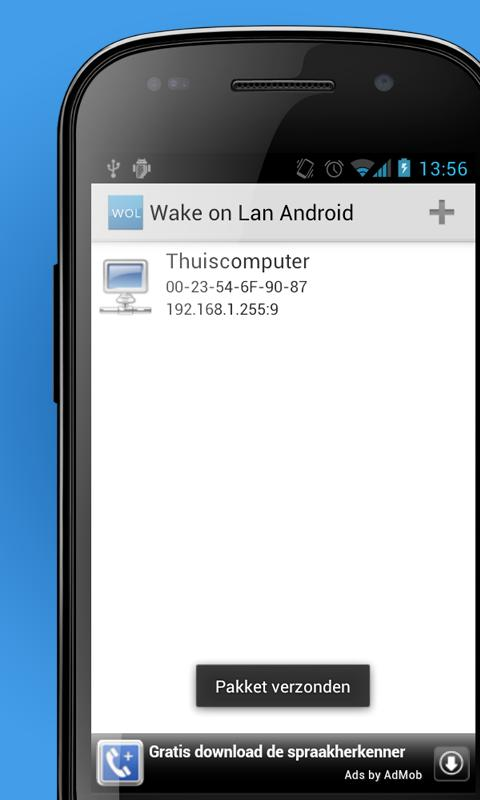 Wake on Lan Android - screenshot