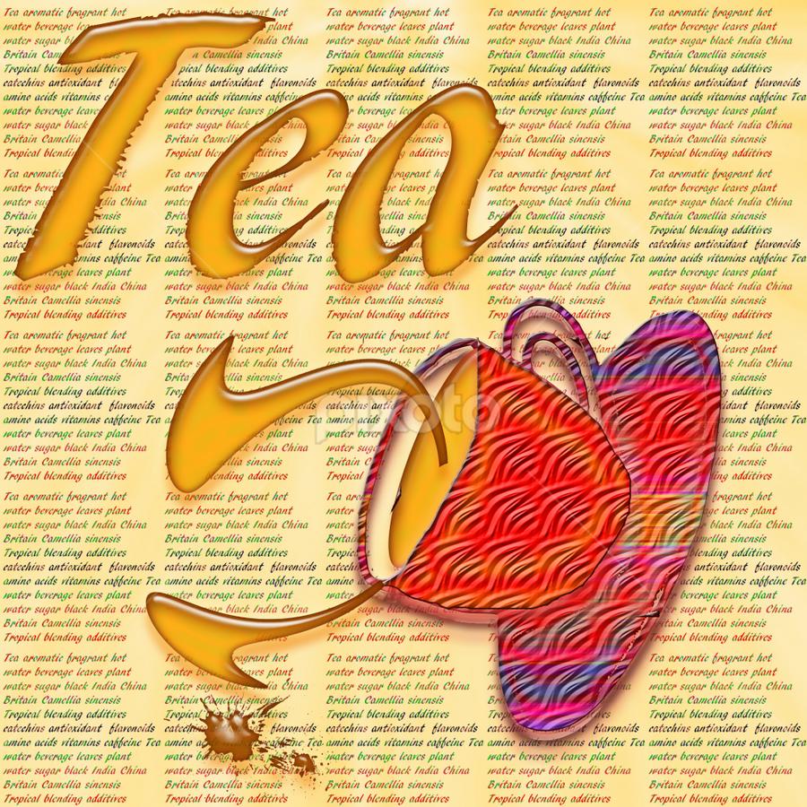 by Dipali S - Typography Words ( abstract, creation, orange, splash, confetti, font, wallpaper, illustration, spill, leaf, tea, print, beverage, pattern, sinensis, artistic, antioxidant, alphabet, tea cup, camelia, typography, english, design )