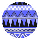 Aztec Tribal Blue Theme