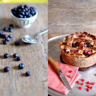 Blueberry And Rhubarb Pie.