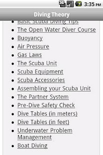 Scuba Exam Lite - screenshot thumbnail