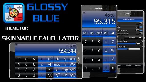 SCalc Theme Glossy Blue