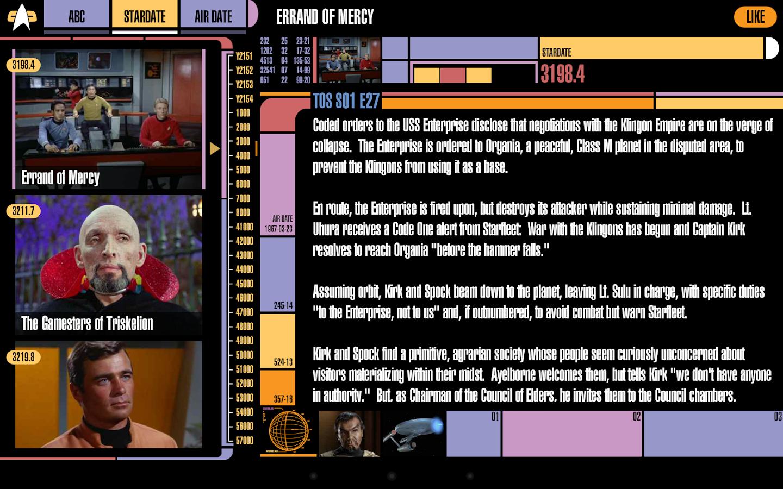 Trek Episode Guide- screenshot
