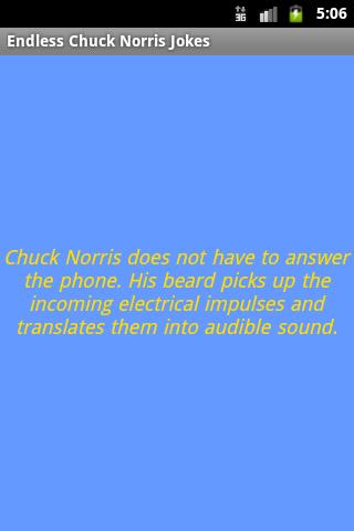Endless Chuck Norris Jokes