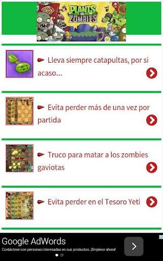 Trucos Plants vs Zombies 2