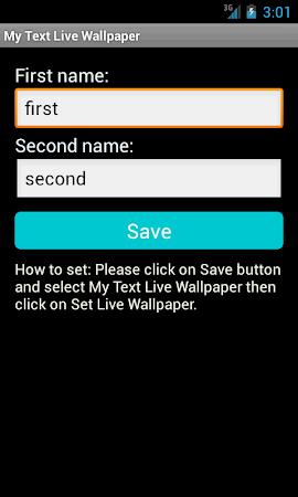 My Text Live Wallpaper 2.2 screenshot 10230