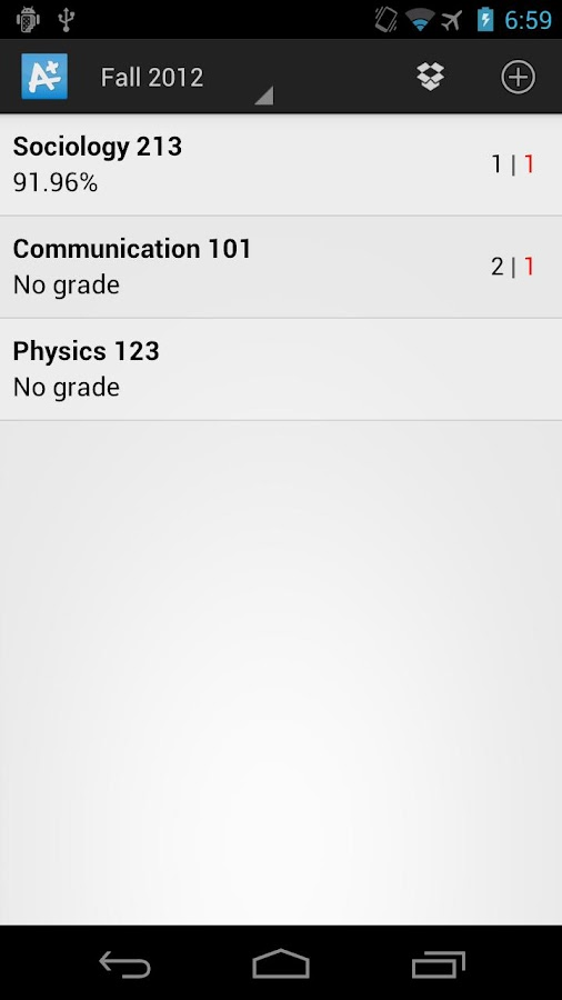 My GradeBook : Student Grades- screenshot