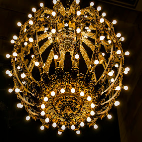 Chandelier by Sarthak Bisaria - Artistic Objects Other Objects ( lights, night, new york city, antique, golden )
