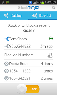 SilentNinja: DND call blocker- screenshot thumbnail