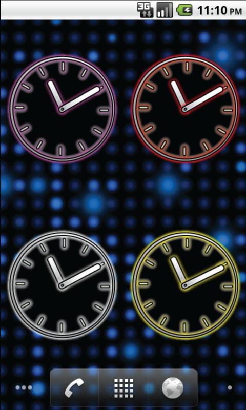 Glowing Neon Clocks - FREE- screenshot