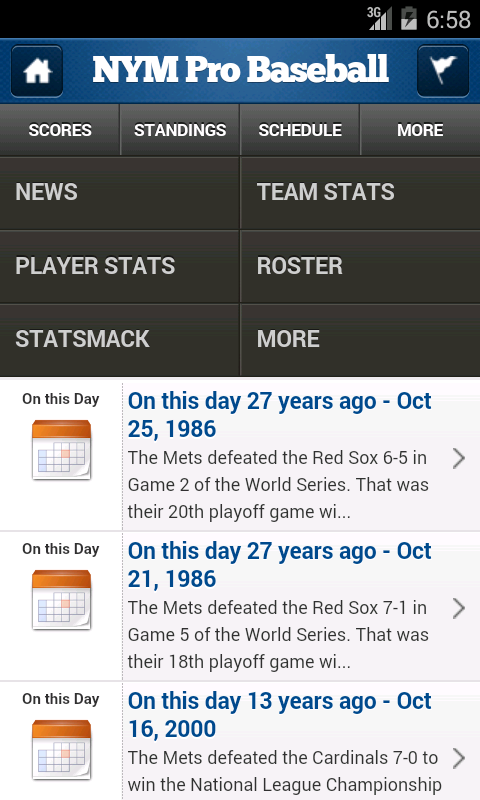 NYM Pro Baseball - screenshot