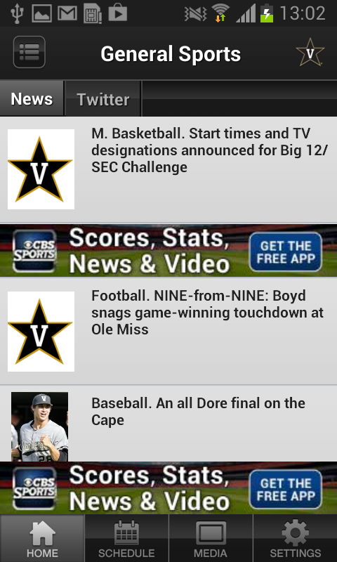 Vanderbilt Athletics - screenshot
