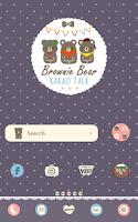 Screenshot of brown bear dodol theme