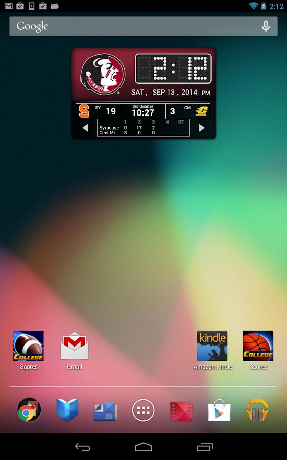 FSU Seminoles Live Clock - screenshot