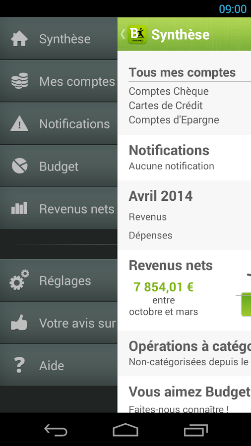 Fortuneo Budget- screenshot