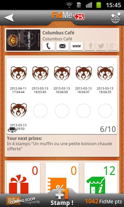 FidMe - Loyalty cards - screenshot