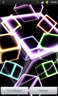 NEON CUBE 3D Live Wallpaper - screenshot thumbnail