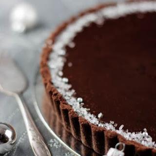 Dark Chocolate and Peppermint Cream Tart