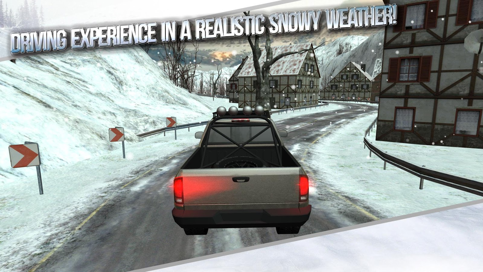 Winter traffic car driving 3d screenshot