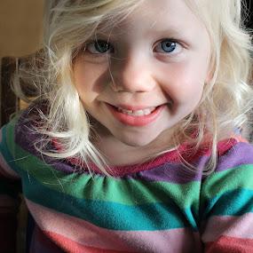Hello by Maureen Rueffer - Babies & Children Children Candids ( girl, colors, happy, toddler, smile )