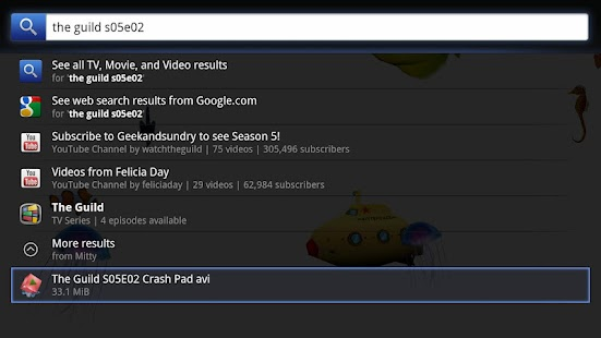 Mitty Torrents for Google TV - screenshot thumbnail