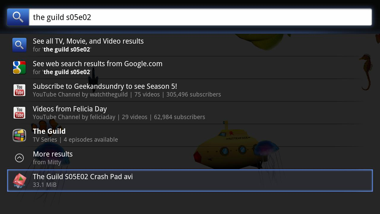 Mitty Torrents for Google TV - screenshot