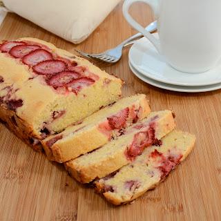 Strawberry Cornmeal Pound Cake
