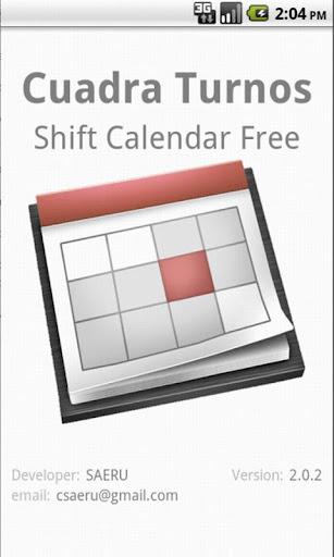 Shift Cal - Cuadra Turnos Free
