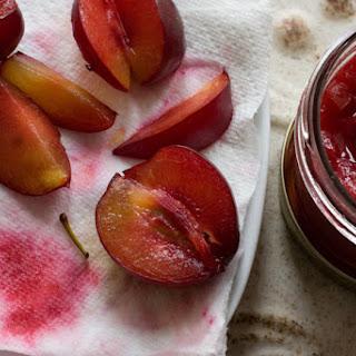 Rosewater Plum Compote.