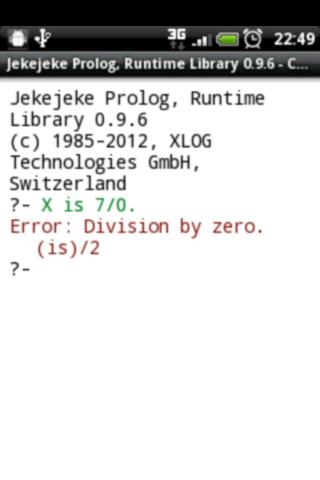 Jekejeke Prolog Runtime - screenshot