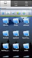 Screenshot of ES File Explorer (1.5 Cupcake)