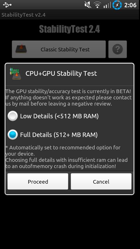 StabilityTest (ROOT optional)- screenshot