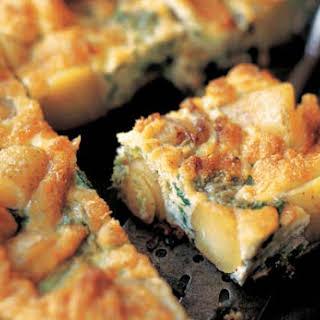 Broccolini and Potato Frittata.