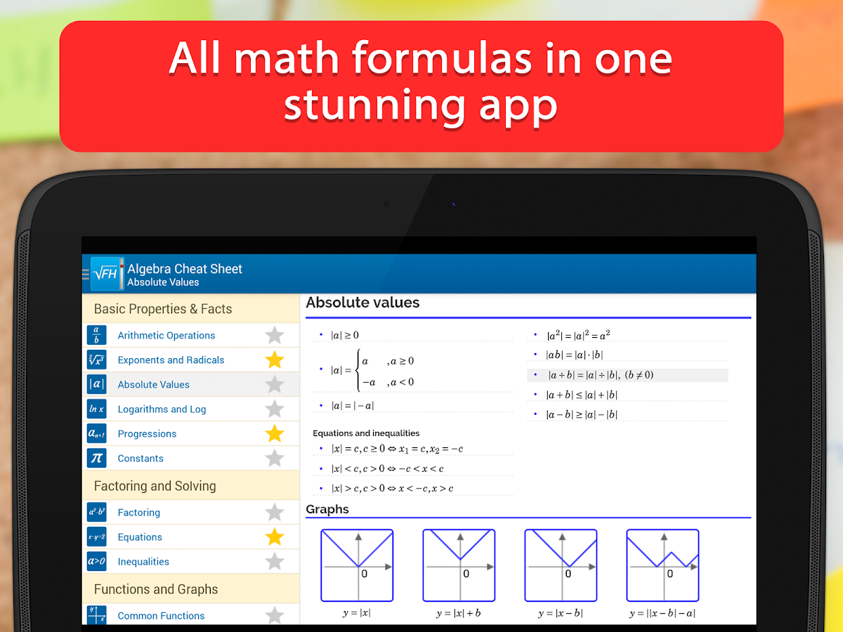 Formulae Helper Free - Math - screenshot