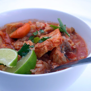 Spicy Fish Stew Risotto.