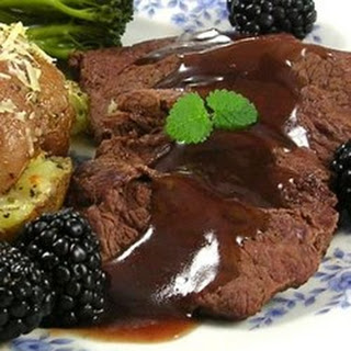 Venison with Blackberry Wine Sauce.