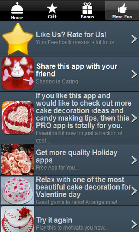 Valentines Day Recipes Cupcake - screenshot