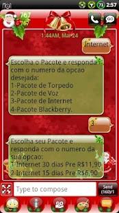 Christmas GO SMS Theme- screenshot thumbnail
