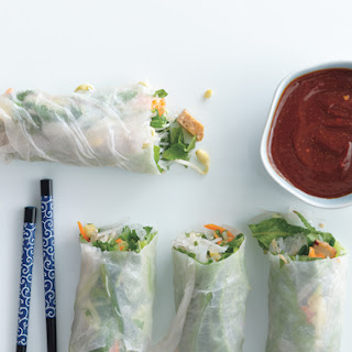 Summer Rolls with Baked Tofu and Sweet-and-Savory Dipping Sauce.