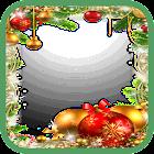 クリスマスと新年のフレーム icon